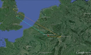 Route of the Lancaster Bombers