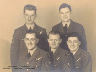 Crew of the Lancaster bomber 564 HK AA-P